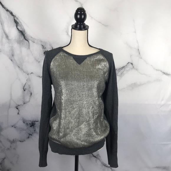 Halogen Sweaters - Halogen metallic pullover long sleeve sweater